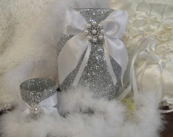 wedding centepiece, glitter vase, bridal shower, reception decoration, baptism,birthday, reception decor