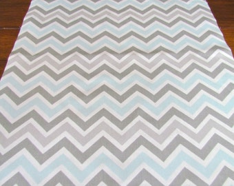 GRAY BLUE TABLE Runner 12 x 60 Gray Blue Chevron Table Runners silver Wedding Showers Decorative Grey Holiday Table Runner Cloth