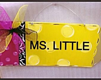 Pencil Door Hanger Chalkboard Door Hanger Teacher Gift