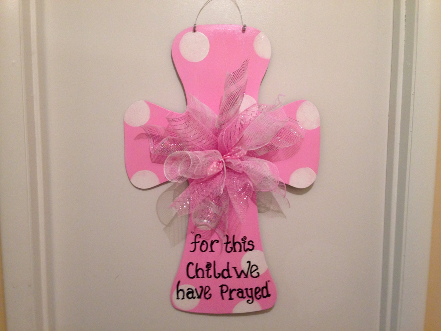 Baby announcement its a girl door hangerhospital door for Baby girl hospital door decoration