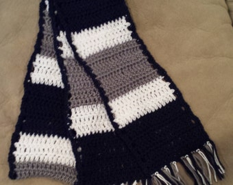 Penn State crochet scarf