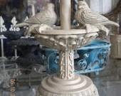 Beautiful Garden Birdbath Statue Lamp Base