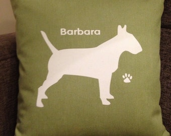 Personalised English Bull Terrier Dog Cushion