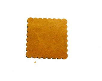 Scalloped Square Die Cut, 1.75 inch paper embellishment, choose color and amount, Make diy tags, backgrounds, thank you notes, place holders