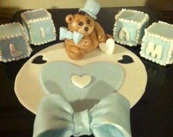 Edible Teddy Bear Cake Topper