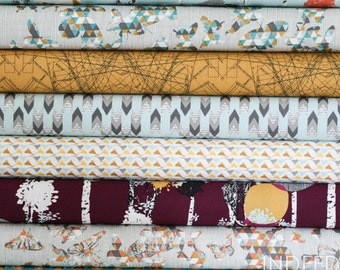 SALE // Indelible Fat Quarter Bundle-  Art Gallery, Quilting Weight Cotton, 8 Prints