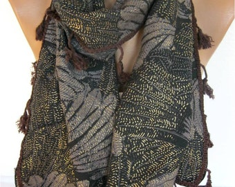 BIG SALE %50 off -Winter Scarf, Rectangle Scarf, Gift Scarves, Scarf with trim -Shawl, Women Scarf