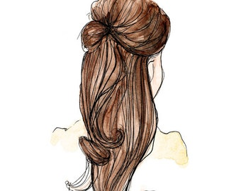 The Kate Fashion Illustration Print