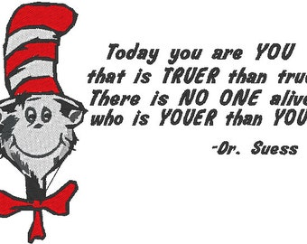 Dr. Seuss Quote Machine Embroidery design