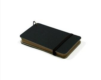Mini Pocket Notebook [ Black / Kraft ]