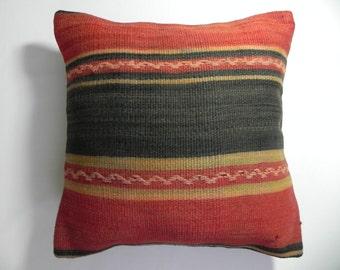 "kilim, pillows, kilim pillow, coverscushion, cover, accent pillow, decorative, ,16""x16"",Decorative Kilim Pillow,Kilim Embroidery Pillow,"