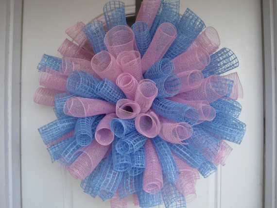baby shower decorations deco mesh wreath baby shower decor baby