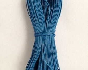 1.5mm Royal Blue Cotton Waxed Cord Size 1.5mm Length 100yds per bundle