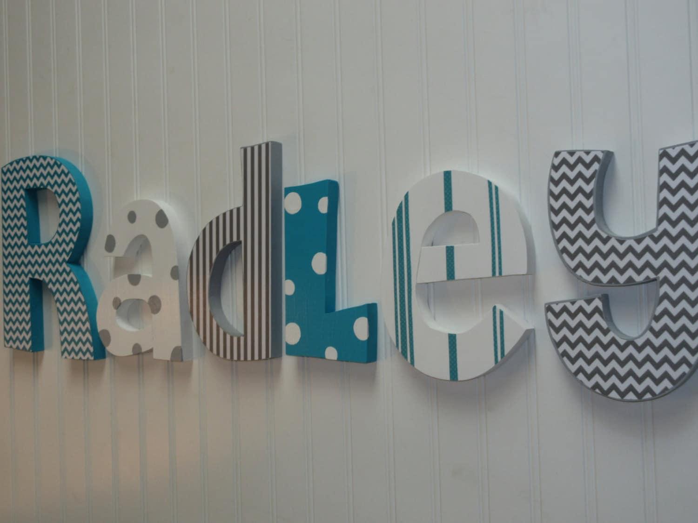 Nursery Decor Hanging Wall Letters : Nursery decor wall letters boy
