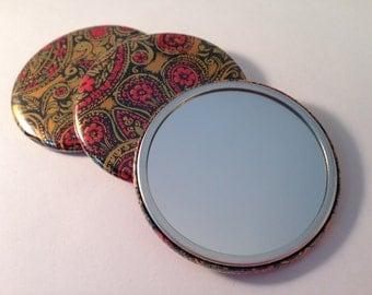 Vintage Gold Paper Pocket Mirrors