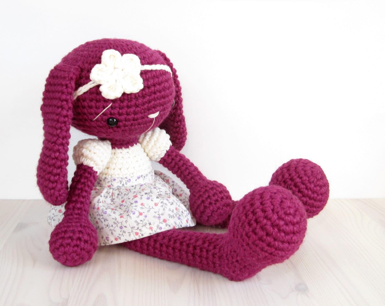 Amigurumi Bunny In Dress : PATTERN: Bunny in a Dress Amigurumi rabbit Crochet pattern