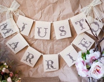 Just Married Banner, Just Married Sign, Photo Banner Just Married, Wedding Banner  Car, Garland Just Married, Burlap Sign Just Married