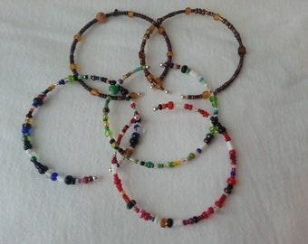 Girls Seed Bead Cuff Bracelet