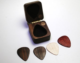 Valentines Day Gift for him, Personalized engraved guitar pick box, excellent holiday gift , Guitar Gift - Custom Guitar Pick holder
