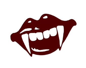 Vampire Teeth Decal sticker wall art car graphics room decor twighlight blood emo goth gothic metal AA45