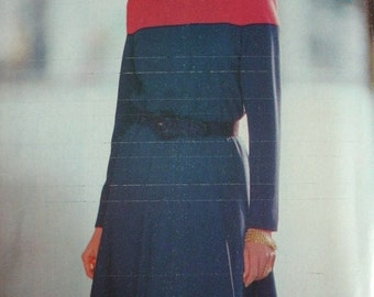 Misses Dress Size 12-14-16 See & Sew by Butterick Pattern 6952 Vintage 1993 UNCUT Pattern Rated Easy to Sew