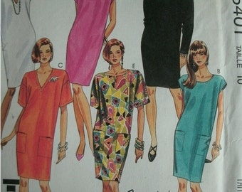 Misses Dresses Size 10 McCalls The Easy 90 Minute Pattern - Fashion Basics - EASY to Sew Dress  UNCUT Pattern 1991