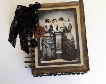 Victorian Mourning Journal, Death Journal, Goth Journal, Grief Journal, Halloween Journal, Memorial Journal