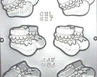 Baby Booties Chocolate Candy Mold Baby Shower 627