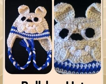 Bulldog Crochet Hat