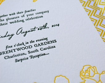 Spring Meadow - Letterpress Wedding Invitation