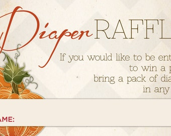 Diaper Raffle Ticket/Insert