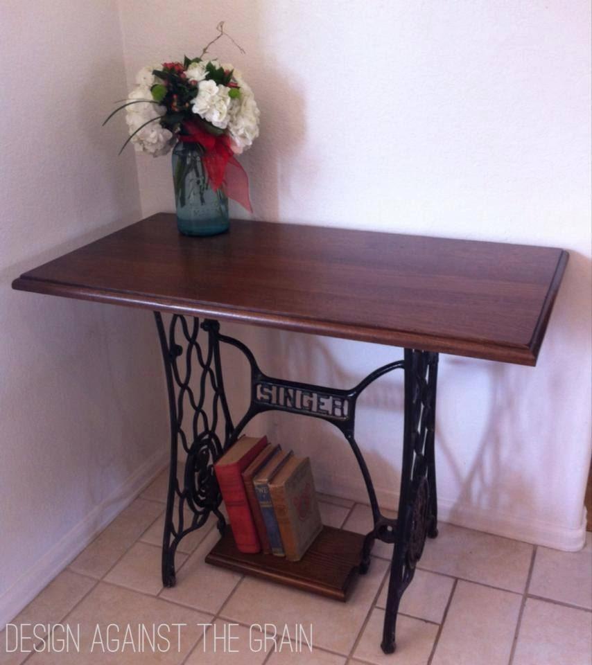 Custom Singer Sewing Base Table Repurposed Sewing Table