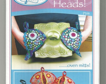 Fish heads Oven mitts sewing pattern P166 Vanilla house Designs uncut