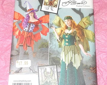 Simplicity 1550 Sewing pattern Amy brown Fantasy Costumes 14 16 18 20 22  uncut new Cosplay Halloween Drama top corset wings hat