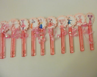 Angelina Ballerina Inspired Bubbles .wand party favors goodie bag birthday party
