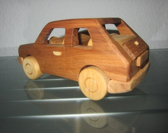 Maluch 126P Polski Bambino wooden car model car very rare handmade