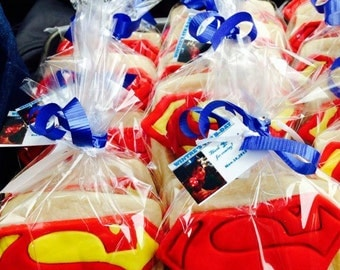 15 pcs Superman  Sugar Cookies