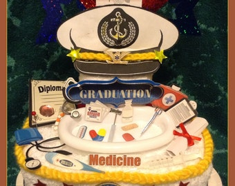 Military Graduation Towel Cake