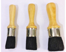 Chalk Supply Short Handle Wax Brush- Black China Bristle- Sm. Med Or Lg.- Great W/ Chalk Paint Soft Paste Wax!