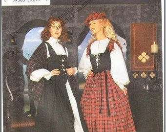 Simplicity 8855 Misses' Celtic Costume Pattern, 6-12