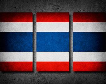 Thailand Flag Triptych