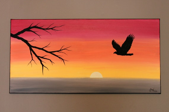 Original Abstract Acrylic Painting on Canvas by PicturesqueFolkart