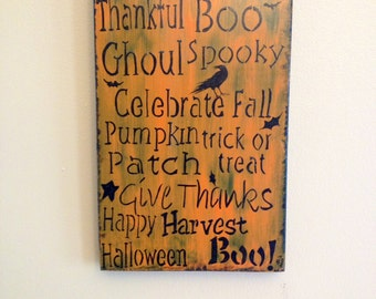 Hand Painted Be Pumpkin Plaque
