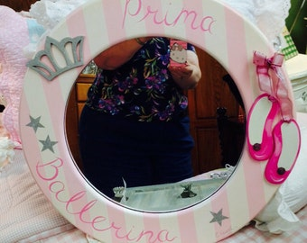 Hand Painted Prima Ballerina Wall Mirror