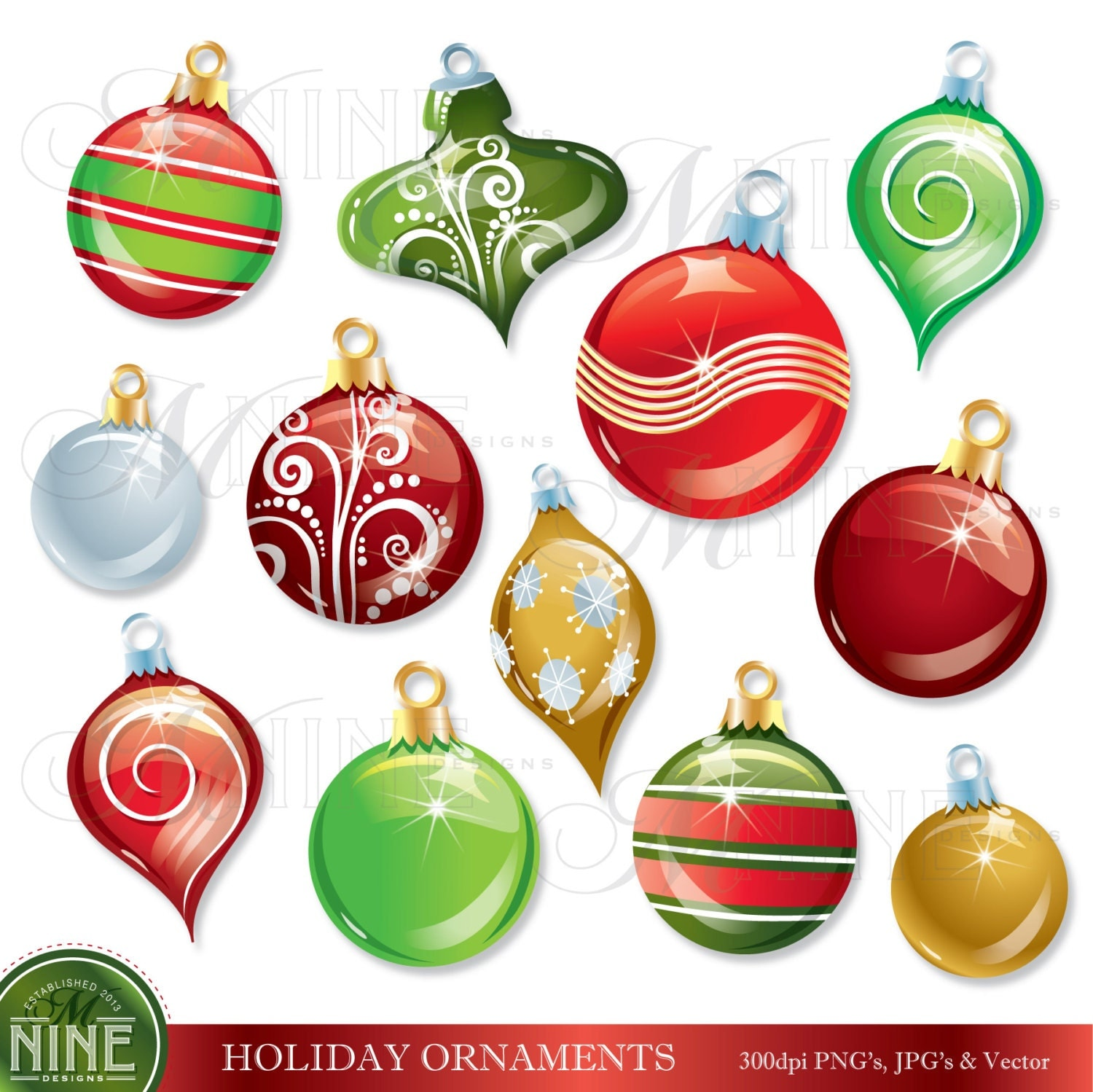 Christmas decorations clipart for Art for decoration and ornamentation