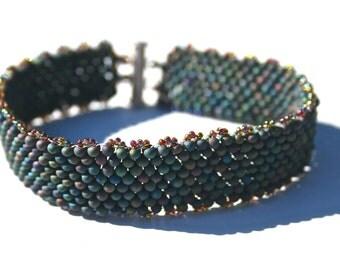 Shades of Blue Peanut Bead Bracelet