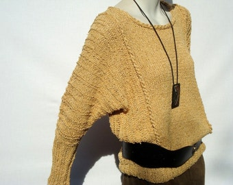 Hand Knitted Sweater-Womens Sweaters-Fashion Knit