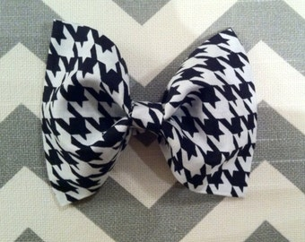 Baby boy bow tie- houndstooth- black and white- infant- newborn- toddler