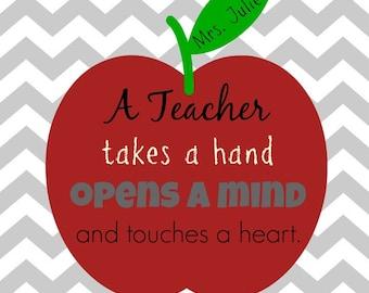 Personalized Teacher Art Print, Digital Art Print for Teacher, Teacher Appreciation, Teacher Gift