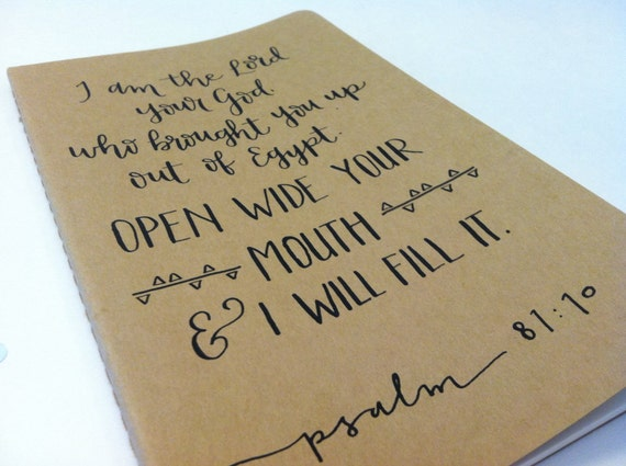 Hand Lettered Calligraphy Moleskine Notebook By Insteadofashes